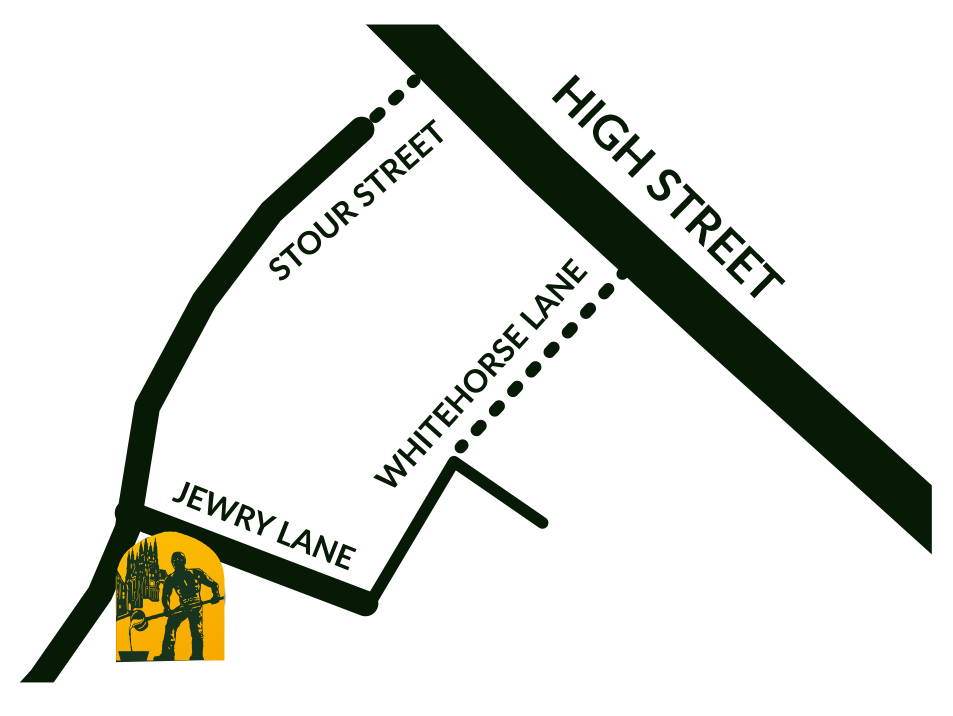 A map to our Brew Pub
